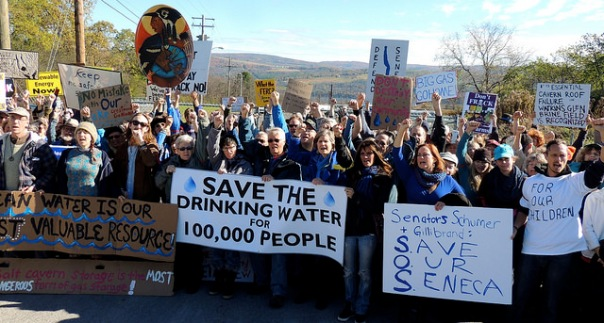 Protest at Crestwood facility at Seneca Lake, October 24, 2014. Photo by Wendy Lynne Lee.