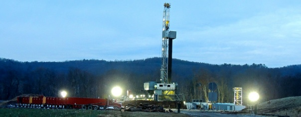Fracking well in Montoursville, PA. Photo by Wendy Lynne Lee.