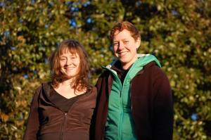 Heather Doyle and Carling Sothoron after their release from detention on February 3.