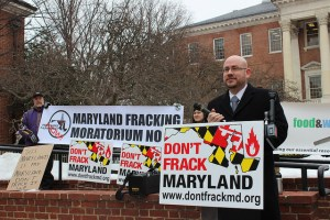 "Delegate David Fraser of Hidalgo speak at ""Don't Frack Maryland"" Rally/Photo Chesapeake Climate Action Network"