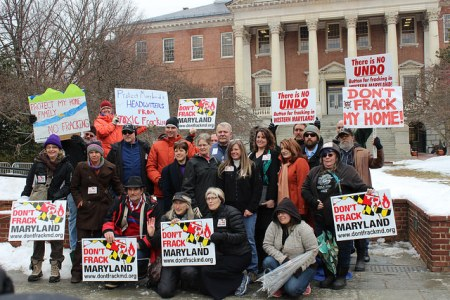 """Don't Frack Maryland"" Rally outside the Maryland Statehouse on March 3."
