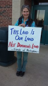 Atlantic Coast Pipeline opponent at FERC scoping meeting on M<arch 18, 2015/Photo via Friends of Nelson