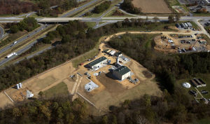 A view of the Myersville compressor station from above.