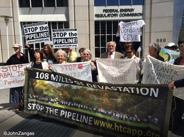 People from eight different communities affected by gas infrastructure traveled to Washington, DC to attend the FERC meeting.