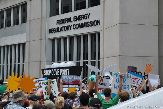 Protest against LNG export in front of FERC on July 13, 2014
