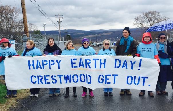 Protesters in front of the Crestwood gas storage facility/Photo courtesy of We Are Seneca Lake